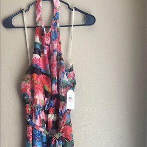 NWT Jessica Simpson Halter Maxi Dress